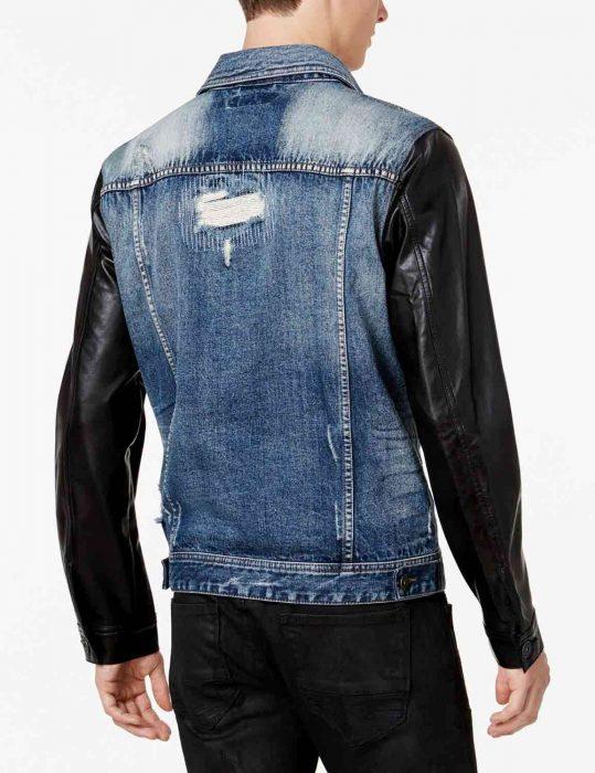 denim leather jacket mens