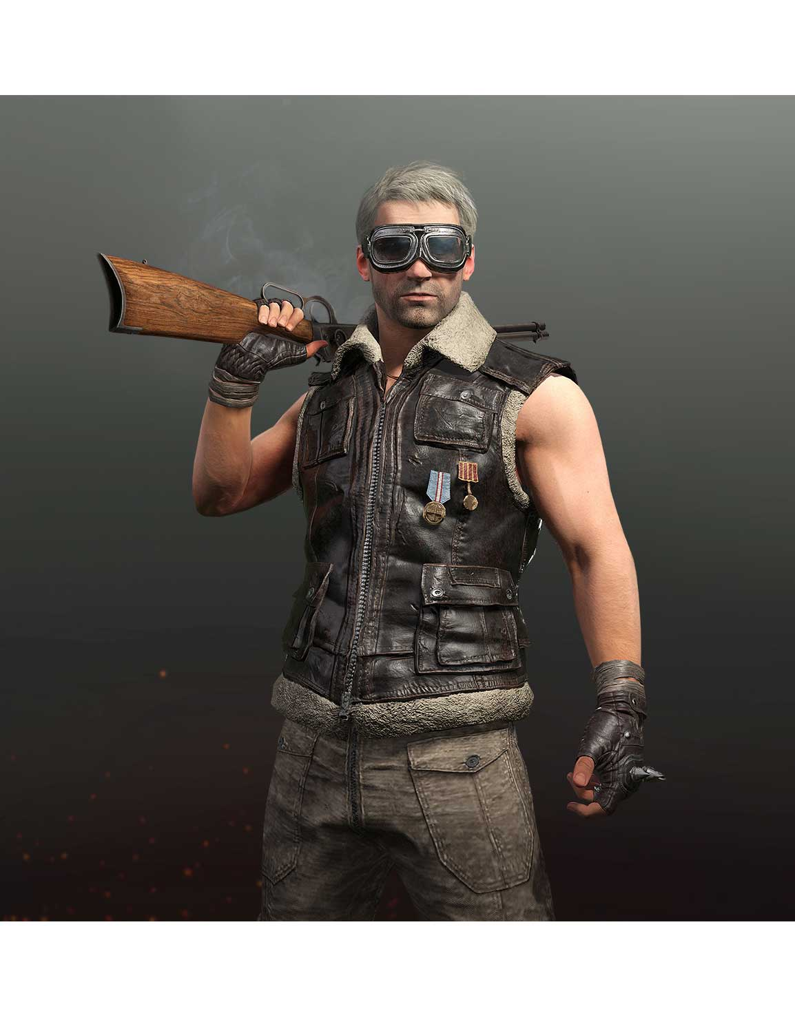 fef8f04a2e737a Battlegrounds Pubg Sleeveless Leather Jacket - Hjackets