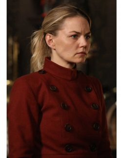 emma swan red trench coat
