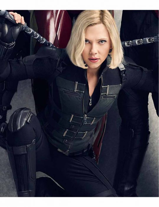 Black Widow Infinity War Leather Vest