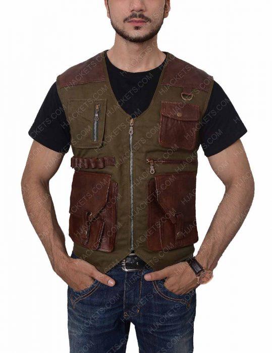 chris pratt jurassic world fallen kingdom leather vest