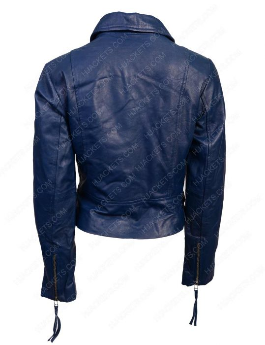 womens lambskin biker leather jacket