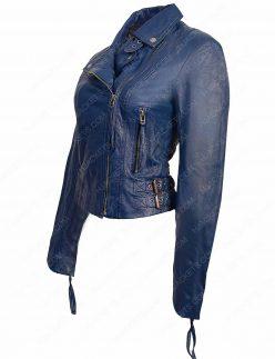 womens lambskin biker jacket
