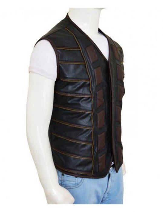 three leather vest