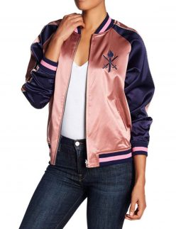 grown-ish silk bomber jacket
