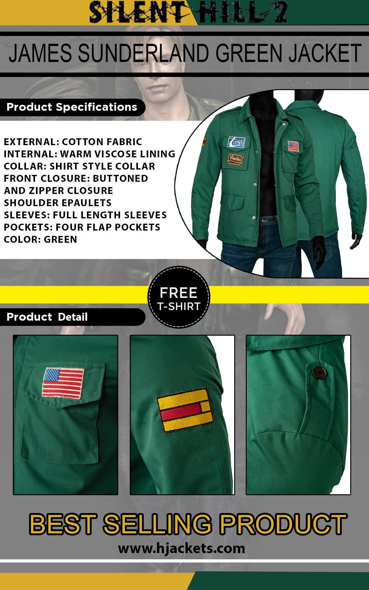 james sunderland silent hill 2 jacket infographic