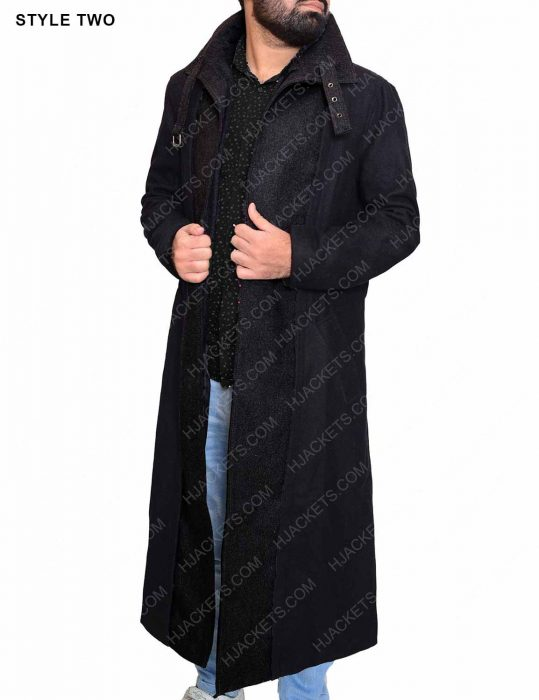 altered carbon wool coat