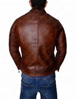 Cafe Racer Slim Fit Biker Jacket