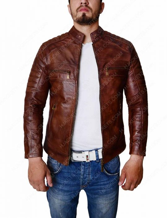 Cafe Racer Slim fit Biker Leather Jacket