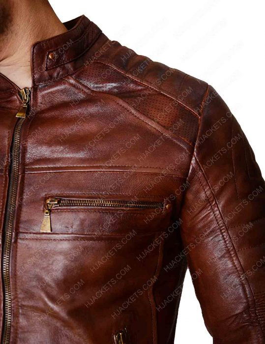 Slim fit Biker Leather Jacket