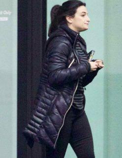 venom parka style black coat
