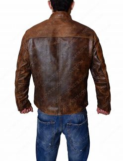 Brown Distressed Mens Jacket