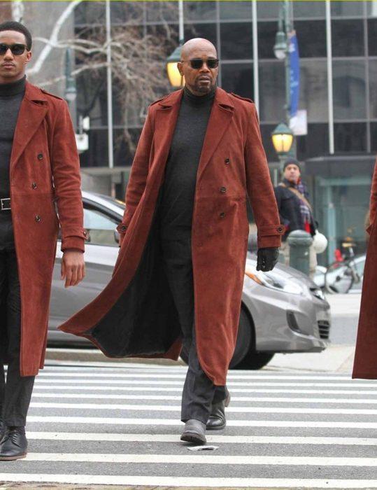 John Shaft Ii Maroon Coat