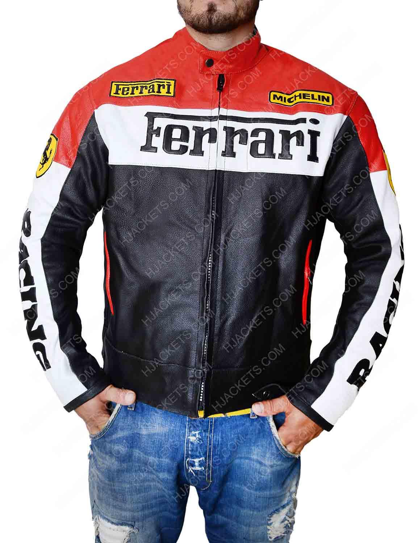 Ferrari Biker Jacket Red And Black Motorcycle Jacket Hjackets