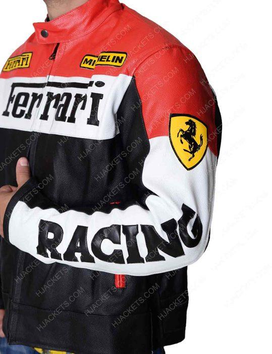 Red and Black Ferrari Biker Jacket
