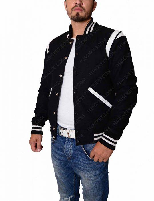 white letterman jacket
