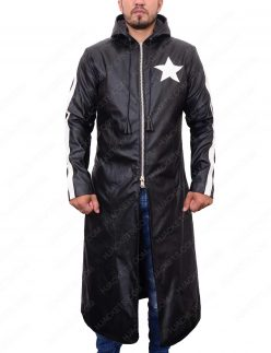 black rock shooter leather coat