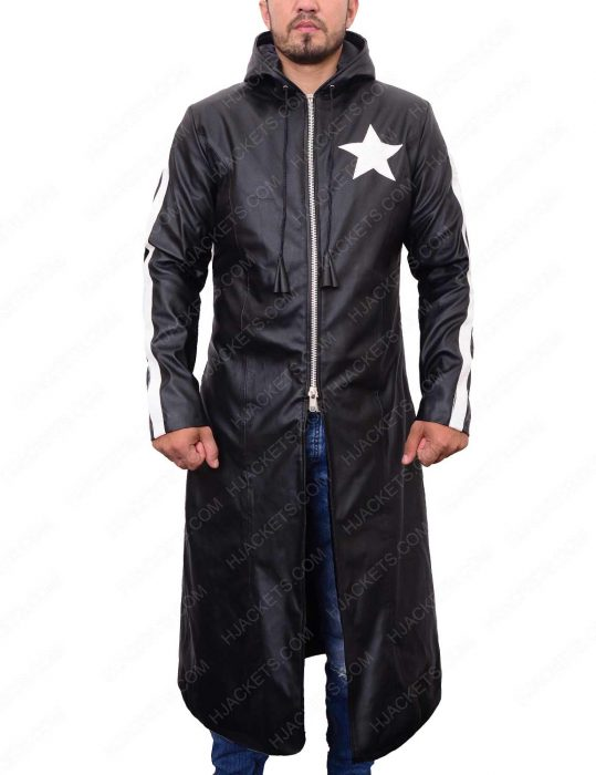 black rock shooter leather coat