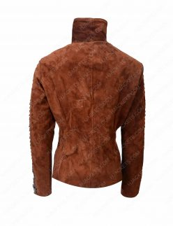womens western suede leather jacket