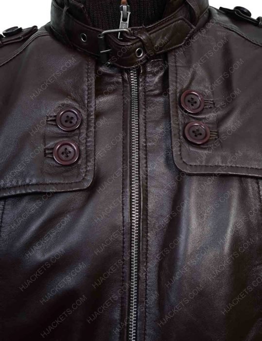 Mens Slim Fit Biker Jacket