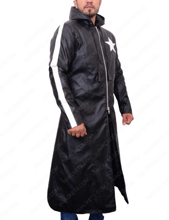 Black Rock Shooter Long Leather Trench Coat