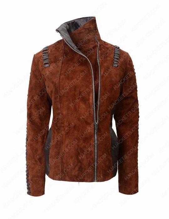 western suede biker jacket for womens