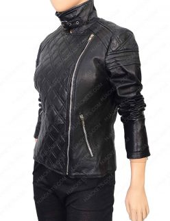 womens quilted motorcycle leather jacket