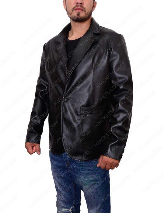 mens casual black blazer