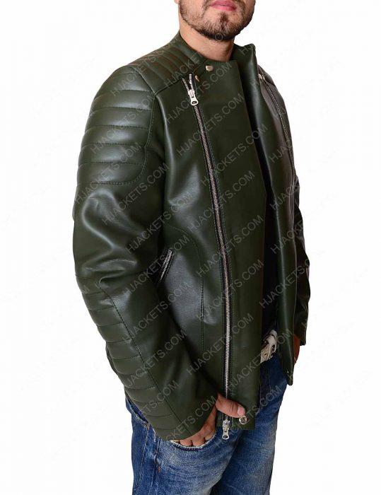 kid cudi quilted biker jacket