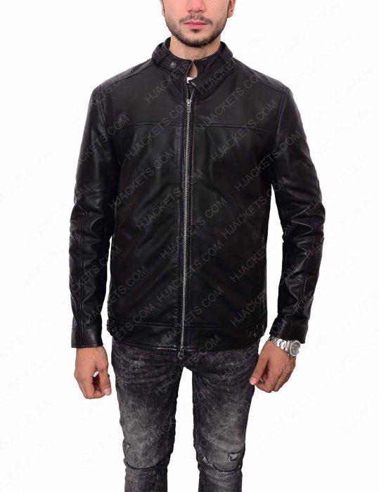 slim fit zayn malik leather jacket