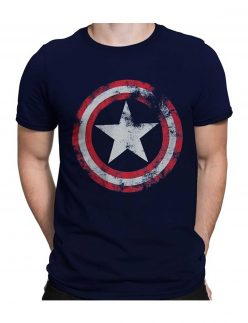 Captain America Shield Navy T-shirt