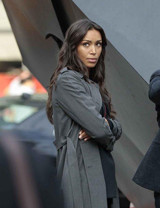 kay daniels grey coat