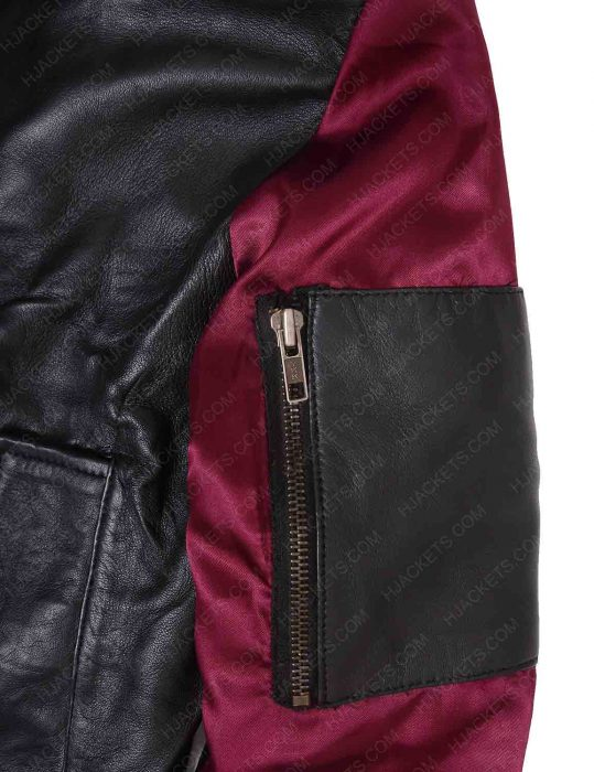 deadpool 2 domino bomber jacket