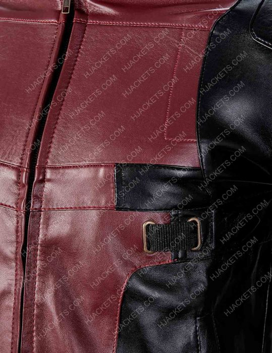deadpool 2 red and black jacket