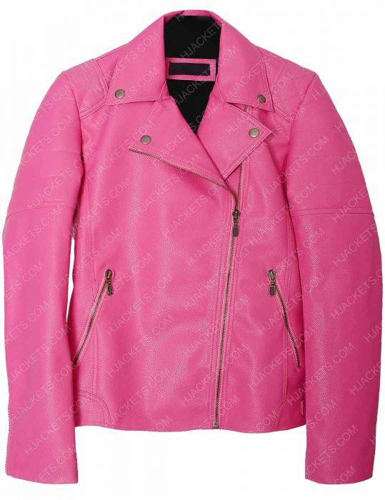 Womens Biker pink Jacket