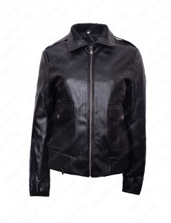 womens double pocket jacket