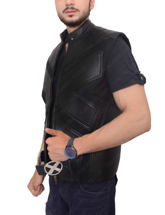 wolverine leather vest