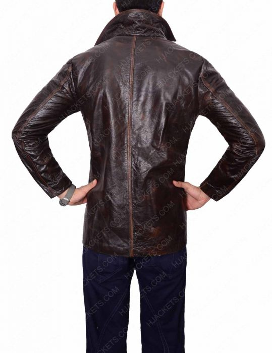 dark brown shirt collar jacket