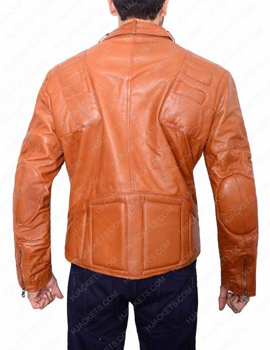 Mens Brown Padded Biker Jacket