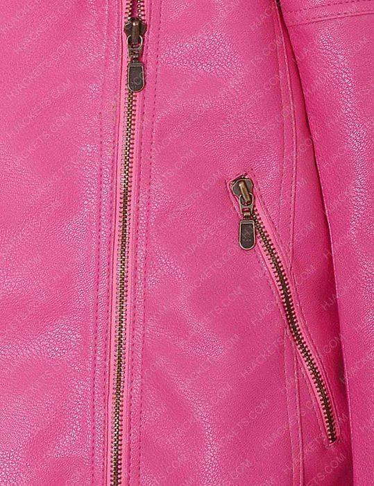 Womens pink Biker Jacket