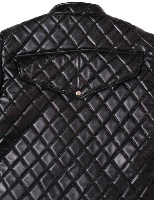 Womens Nicki Minaj Black Quilted Jacket