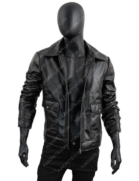 Men's-Slimfit-Black-Zipper-Jacket