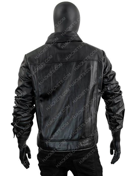 Men's-Slimfit-Black-Zipper-black-Leather-Jacket