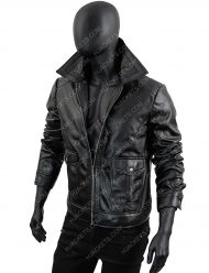 Men's-Slimfit-Black-Zipper-Leather-Jacket