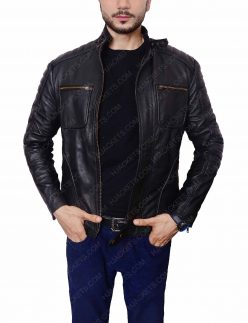 john barrowman malcolm merlyn leather jacket