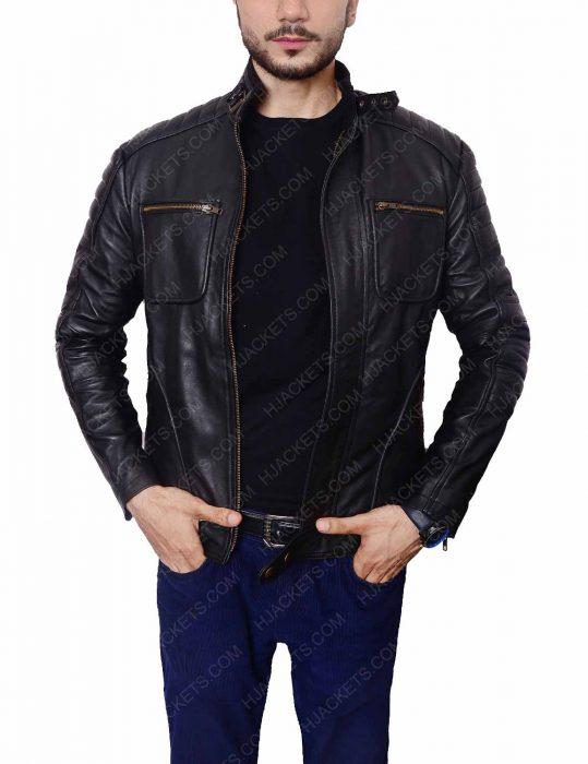 john barrowman malcolm merlyn leather jacket