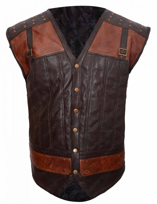 kris holden ried brown leather vest