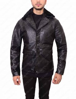 mafia 2 embossed crocodile leather jacket