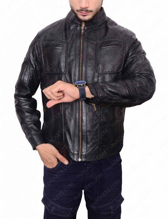 Star Trek black Leather Jacket