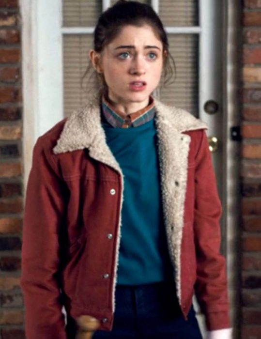 natalia dyer stranger things nancy wheeler jacket
